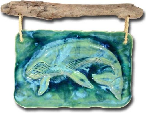 Maui Humpback Whale Wall Art - Ceramic Designs by Albert