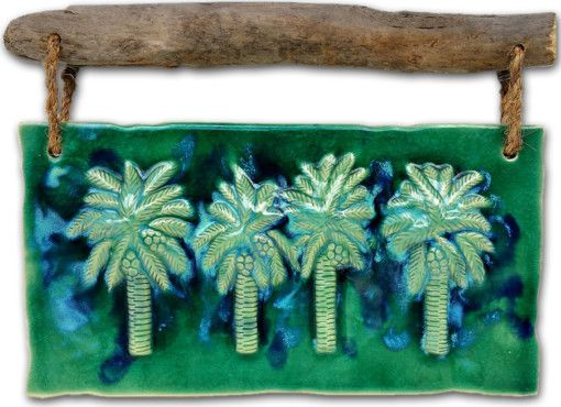 Maui Swaying Palm Trees - Ceramic Designs by Albert