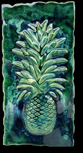 Sweet Maui Pineapple Kitchen Plaque - Ceramic Designs by Albert