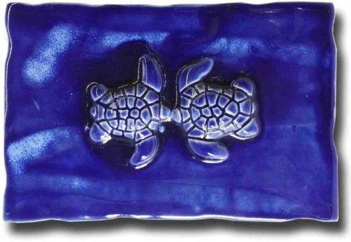 Maui Kissing Turtles Plaque - Ceramic Designs by Albert