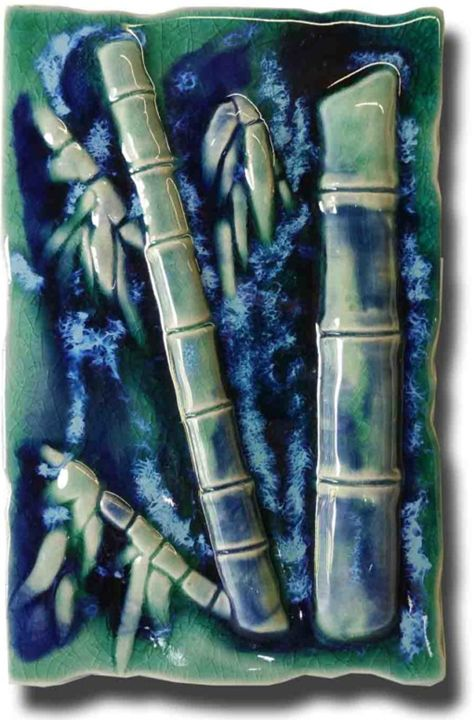 Maui Bamboo Forest Plaque - Ceramic Designs by Albert