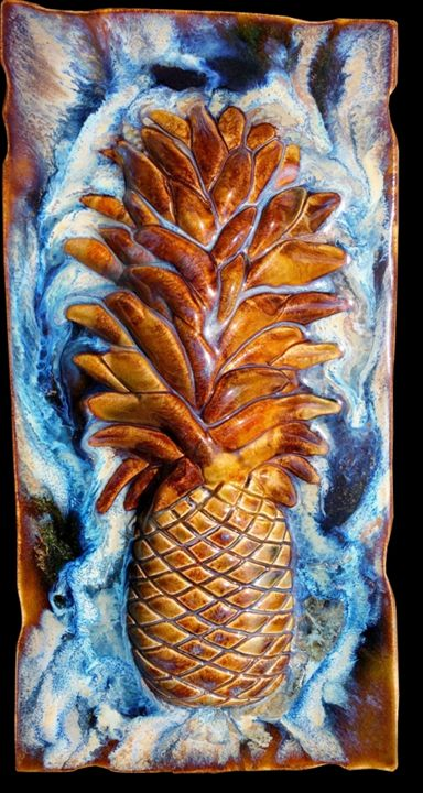 Sweet Maui Pineapple Plaque - Ceramic Designs by Albert