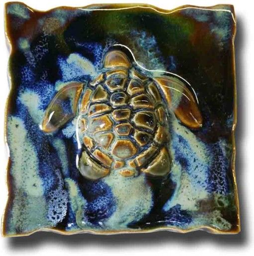Hawaiian Sea Turtle Tile & Plaque - Ceramic Designs by Albert
