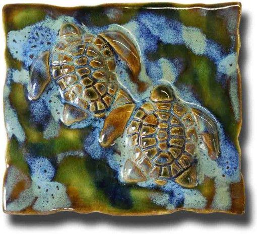 Hawaiian Sea Turtle Tile & Plaque - Ceramic Designs by Albert