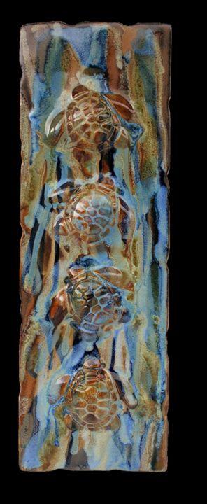 Hawaiian Sea Turtle Plaque - Ceramic Designs by Albert