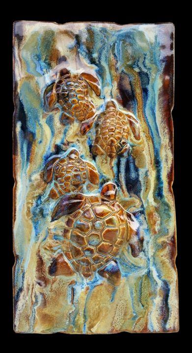Hawaiian Sea Turtles Plaque - Ceramic Designs by Albert