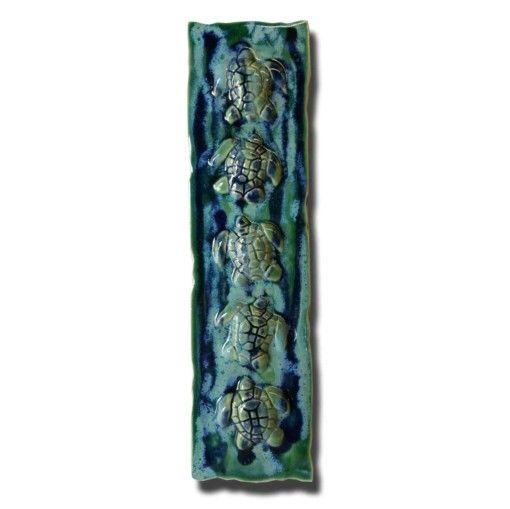 Tile w/Hawaiian Sea Turtles - Ceramic Designs by Albert