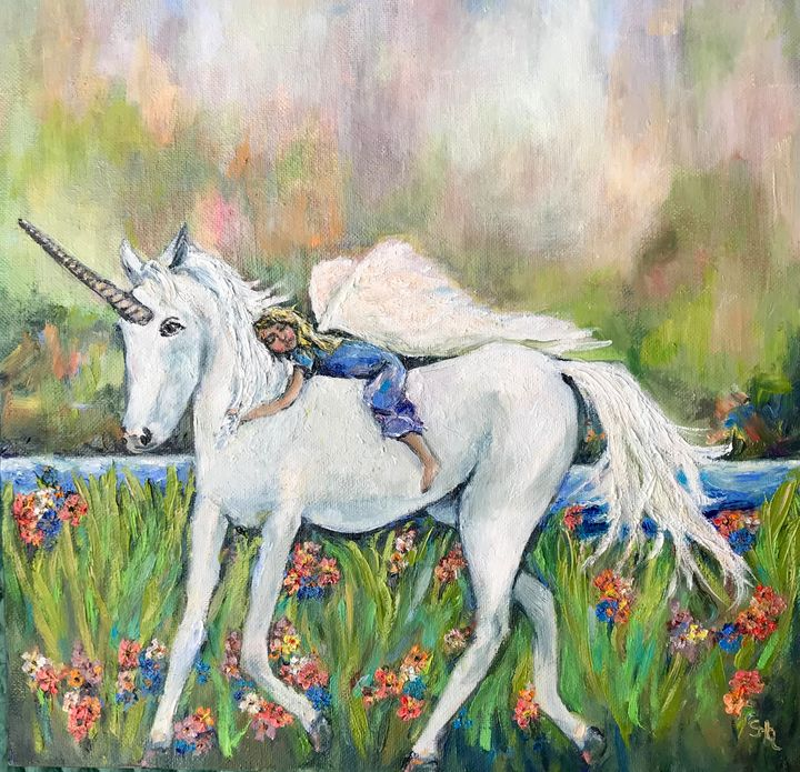Strength of a Unicorn - Banner and Sail by Stephanie