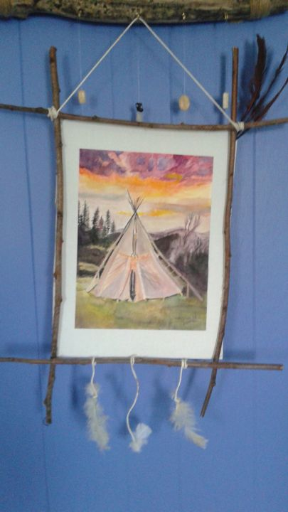 Tribal Outback Tepee - Oneisha's Artworld