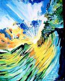 Landscape, water, surf, wave,