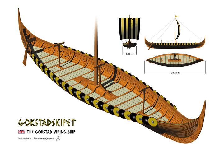 Gokstad Viking Ship - Åsmund Berge