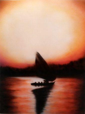 Sunset over the Nile - Alan Barker