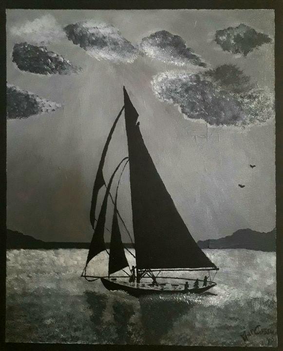 """Veleggiata notturna""-Night sailing - Mark Suu"