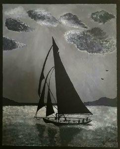 """""""Veleggiata notturna""""-Night sailing"""