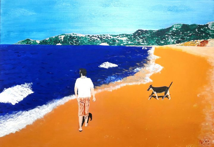 """Friends on the shoreline"". - Mark Suu"