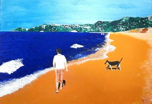 """Friends on the shoreline""."