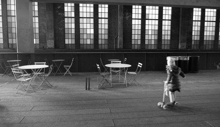 Girl on The High Line - Black & White
