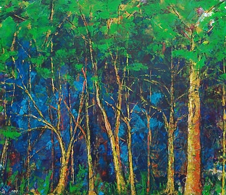 Backwoods Dusk - Diane S Miles Studio