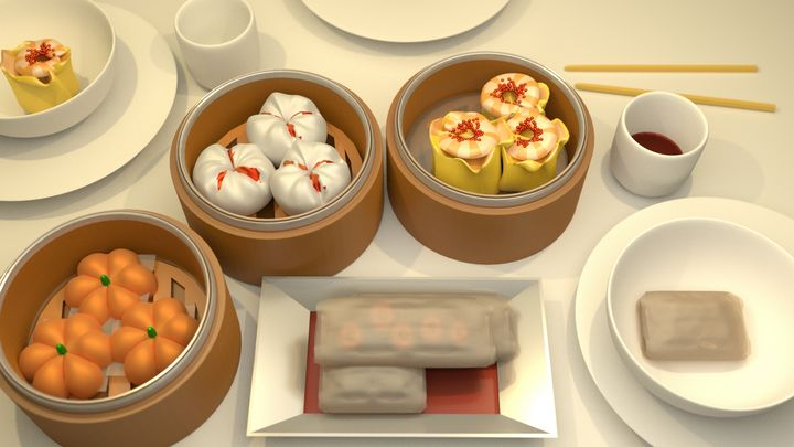 Chinese Dimsum Digital Art Print - Beyond Blessed