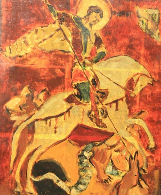 """""""Saint Georges and Dragon"""" - Jean-Xavier Combe"""
