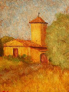 Old farm to Mérindol.