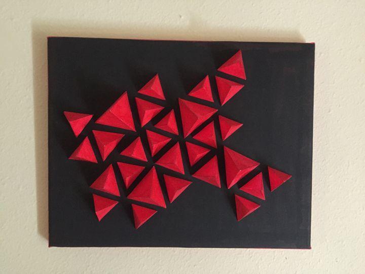 Triangular Pyramids - 3D Shape Wall Art