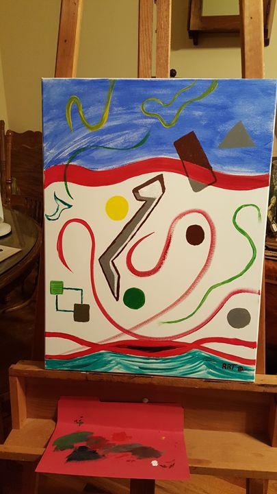 """RED LINE"" - RRTll ART STUDIO"