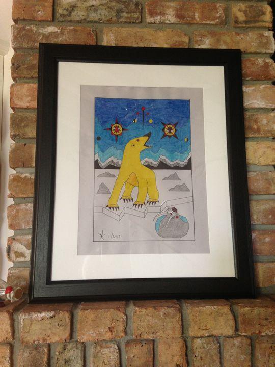 Yellow Polar Bear - Randy Lampe