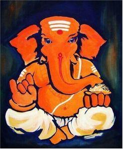 Lord Ganesha _semi-abstract