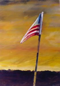 Old Glory, Golf Flag Stick - Raymond L. Reid