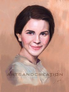 Full Color Pastel Portrait Drawing