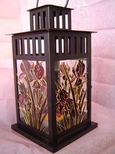 Iris Candle Holder- Lantern