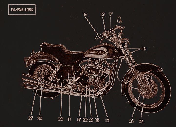 Harley Davidson III - Ethereal Organics...diane montana jansson