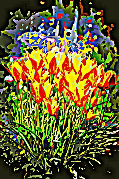 Spring fireworks - Ethereal Organics...diane montana jansson