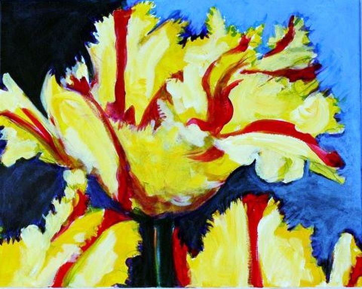 Yellow Red Stripe Tulip - Ethereal Organics...diane montana jansson