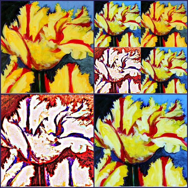 Crowded Tulip Scene - Ethereal Organics...diane montana jansson