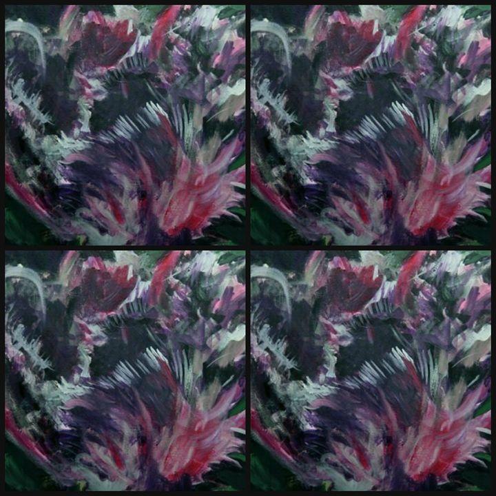 purple parrot tulip quad - Ethereal Organics...diane montana jansson