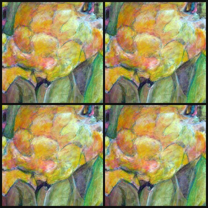 yellow peonies quad - Ethereal Organics...diane montana jansson