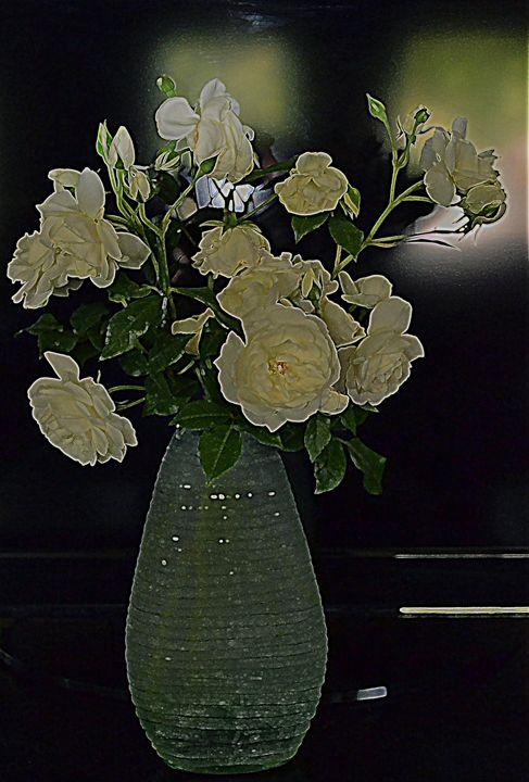 Van Gough's White Roses - Ethereal Organics...diane montana jansson