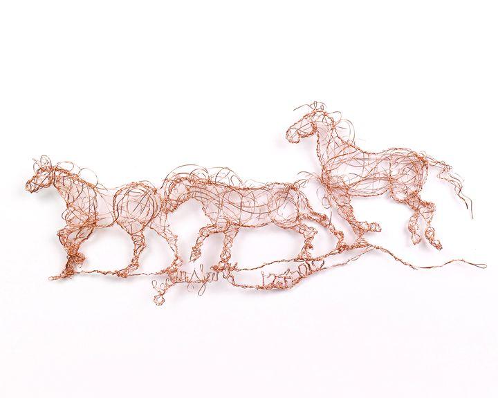 Three horses running 12.4.2010 - HorsewiredrawingsbyBecky