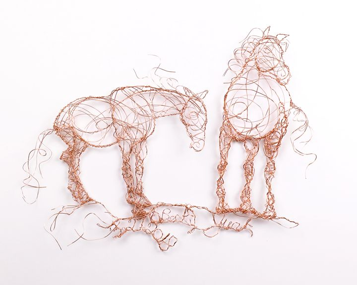 1A0A5906 Two Horses Standing 3.21.20 - HorsewiredrawingsbyBecky