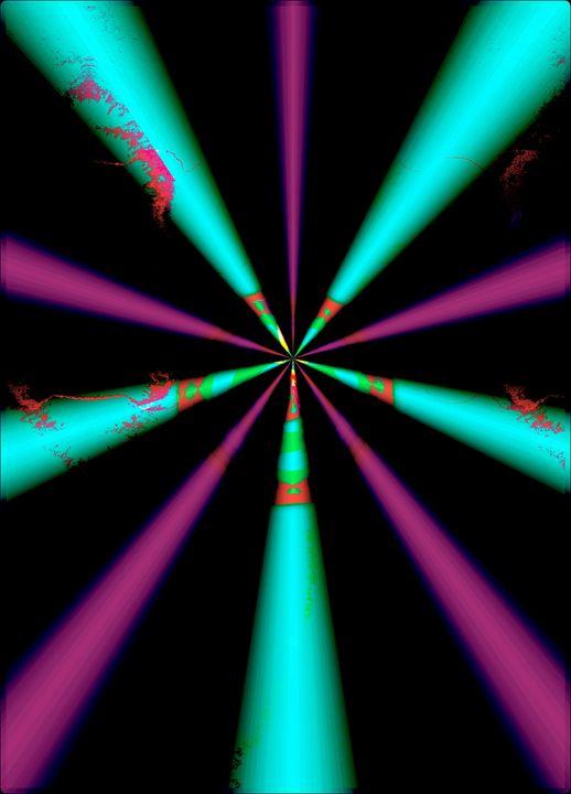 Abstract Colored Spirals, Series I - HEIDI BALDWIN