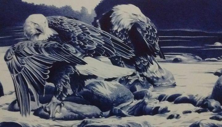 Eagles Gone Fishing - gerald johnston