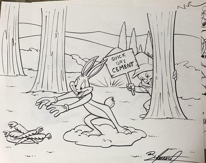 Bugs Bunny Elmer Fudd by Ralph - Ralph Cabrera
