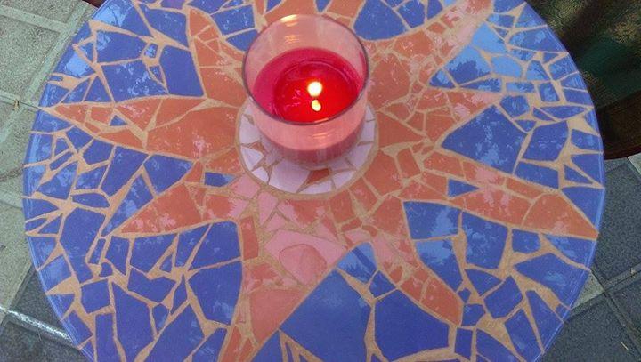 Pink sun - mosaicart