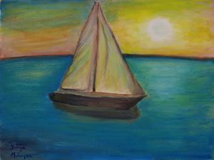 Sailing at the sunset - Yuliya Milinska