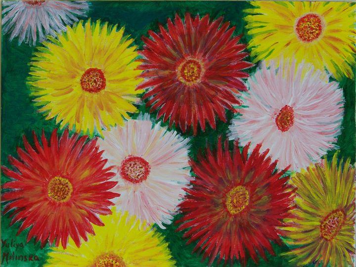 Daisy Flowers - Yuliya Milinska