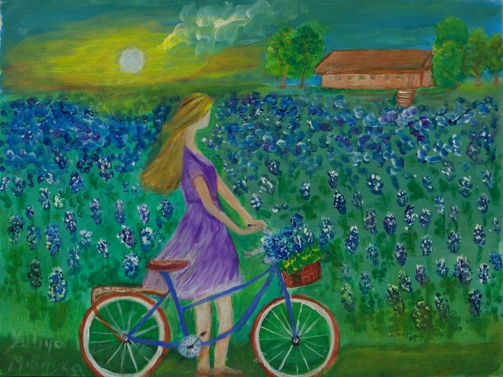 Girl in Bluebonnet field - Yuliya Milinska