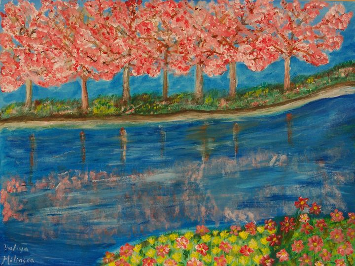 Spring at the Lake - Yuliya Milinska