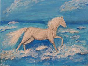 Running White Horse - Yuliya Milinska